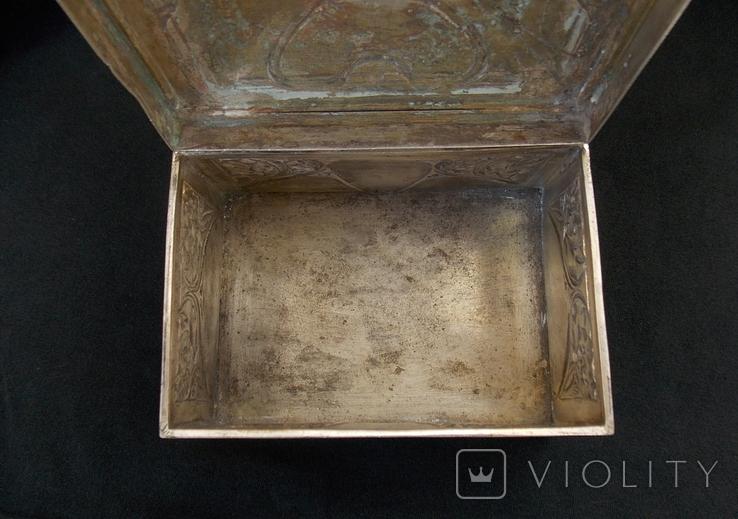 Немецкая серебряная шкатулка мастерской Вильгельма Биндера 800*, фото №8