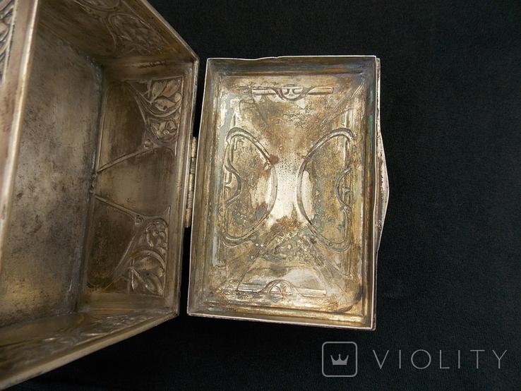 Немецкая серебряная шкатулка мастерской Вильгельма Биндера 800*, фото №9