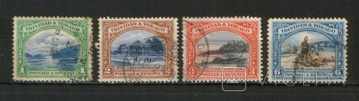 Британские колонии. 1935 Тринидад и Тобаго, местные виды Лот 4 шт.