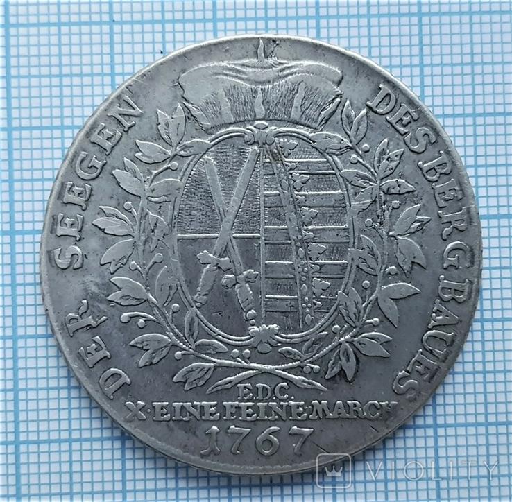 Талер 1767 года,Саксония Фридрих- Август 3 (116), фото №3