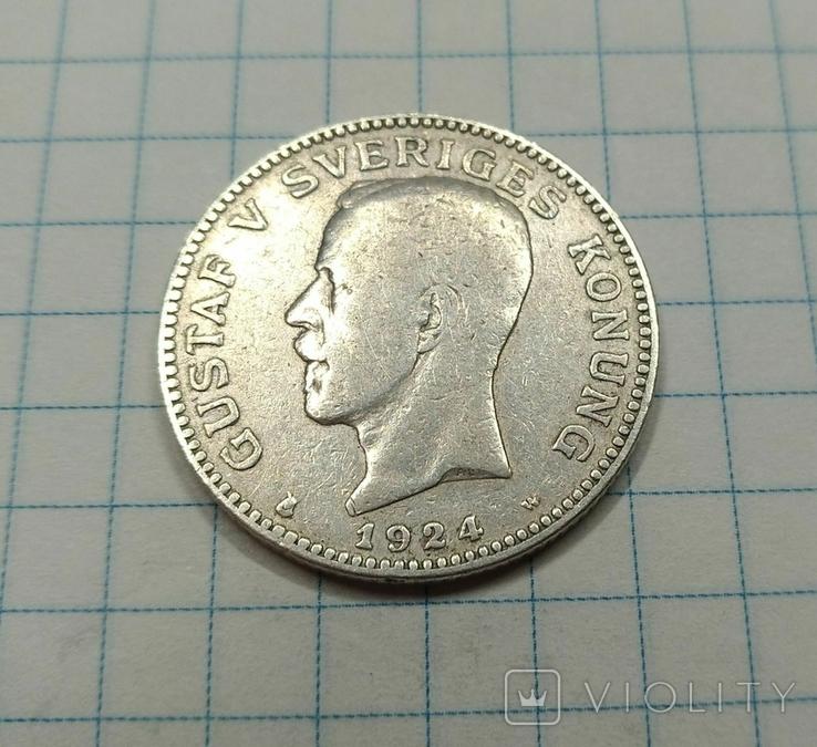 1 крона 1924 года, Швеция, фото №3