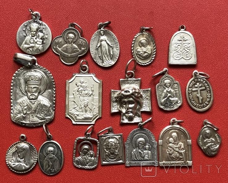 Ладанки срібні 925пр 43грм, фото №2