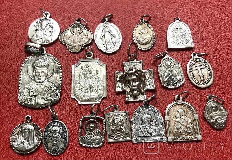 Ладанки срібні 925пр 43грм, фото №3
