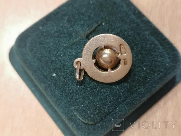 Кулон ,с жемчужиной,583 со звездой., фото №4