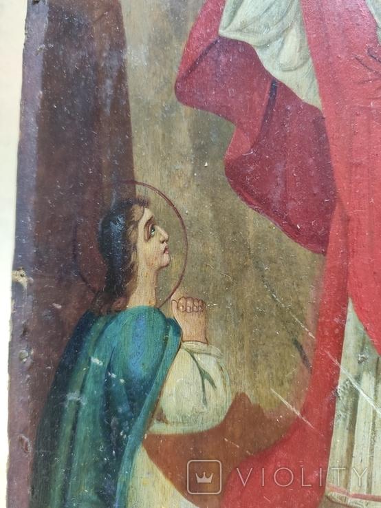 Воскресение Христово. Икона. 21х29. Красивые лики., фото №5