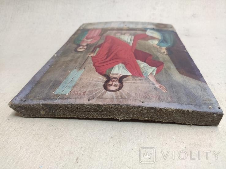 Воскресение Христово. Икона. 21х29. Красивые лики., фото №8