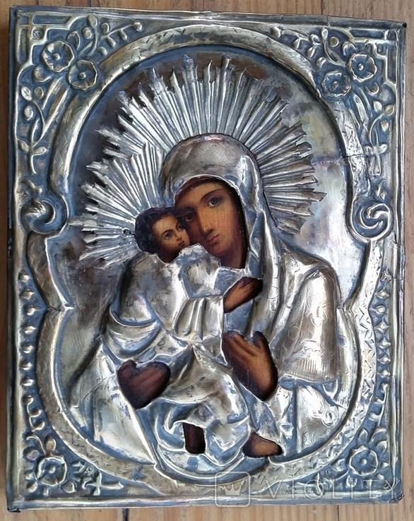 Ікона Володимирська Богородиця, латунь, 22,5х18,0 см, фото №2