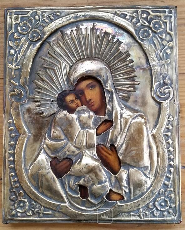 Ікона Володимирська Богородиця, латунь, 22,5х18,0 см, фото №5