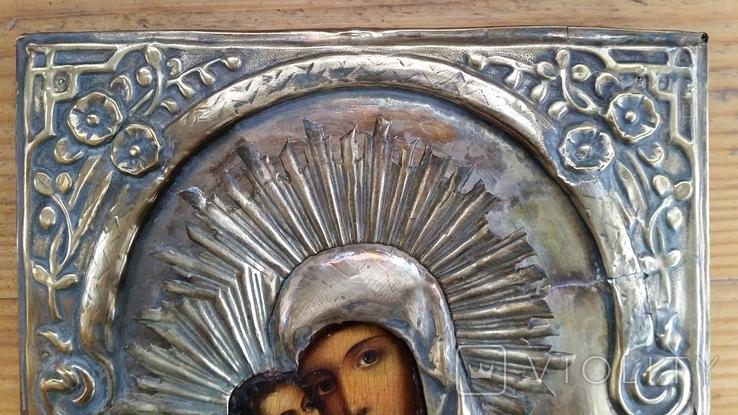 Ікона Володимирська Богородиця, латунь, 22,5х18,0 см, фото №6