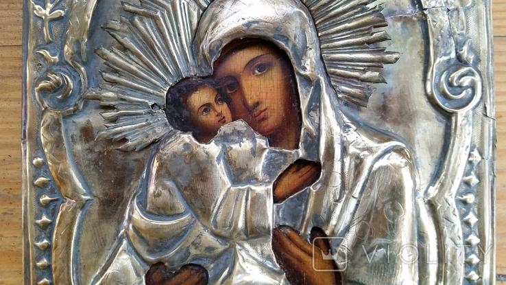 Ікона Володимирська Богородиця, латунь, 22,5х18,0 см, фото №7