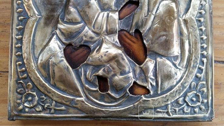 Ікона Володимирська Богородиця, латунь, 22,5х18,0 см, фото №8