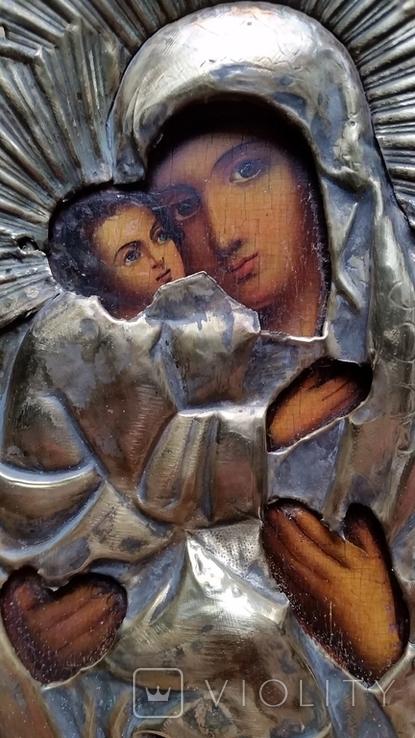 Ікона Володимирська Богородиця, латунь, 22,5х18,0 см, фото №10