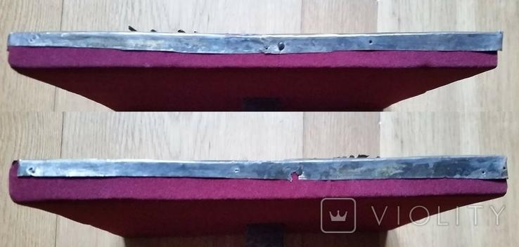 Ікона Володимирська Богородиця, латунь, 22,5х18,0 см, фото №13