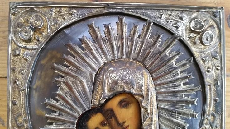 Ікона Володимирська Богородиця, латунь, 22,0х17,2 см, фото №6