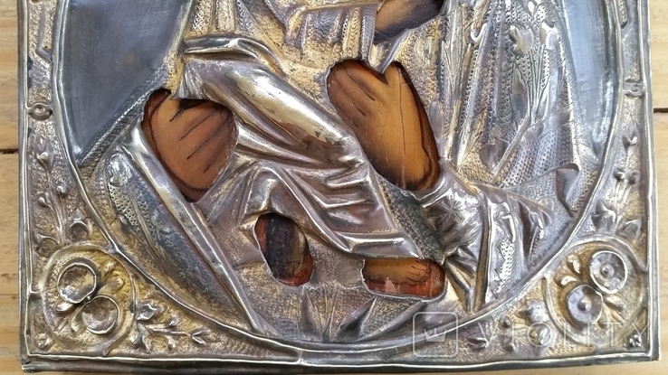 Ікона Володимирська Богородиця, латунь, 22,0х17,2 см, фото №8