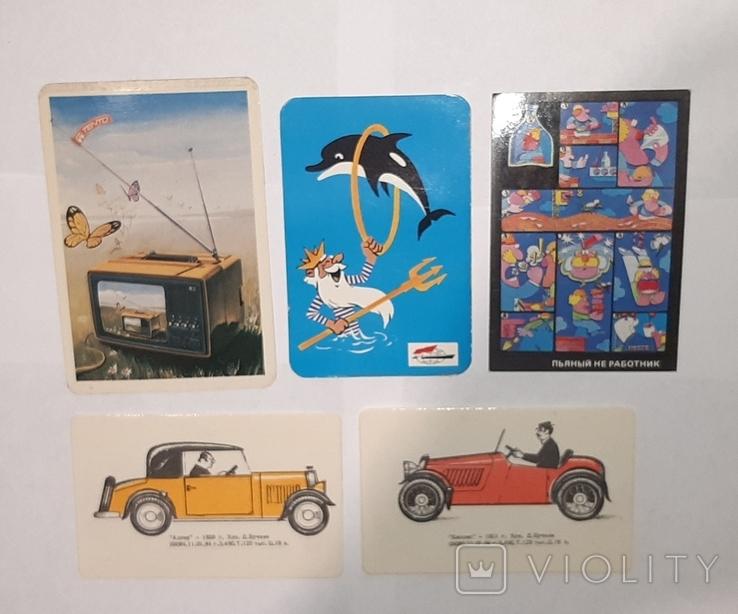 Карманные календарики. 5 шт., фото №2