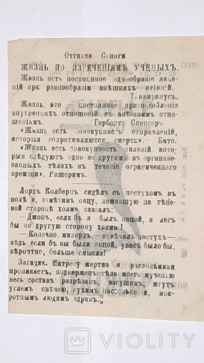 Лист отрывного календаря. 1906 год, фото №3