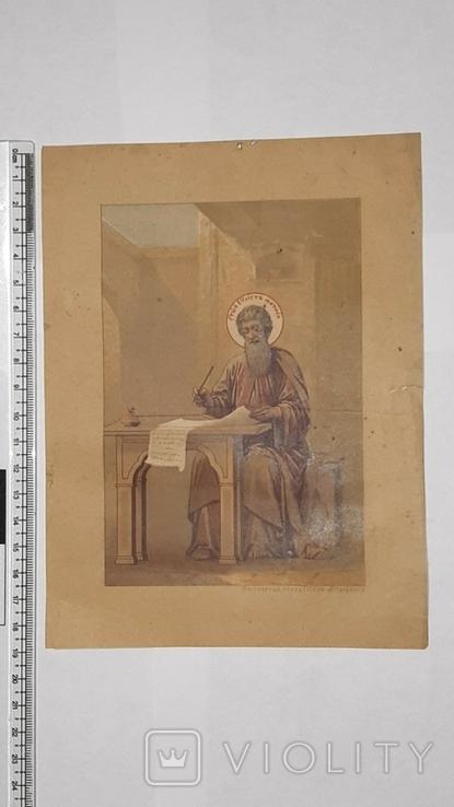 Хромолитография, Св. Евангелист Матфей, фото №2