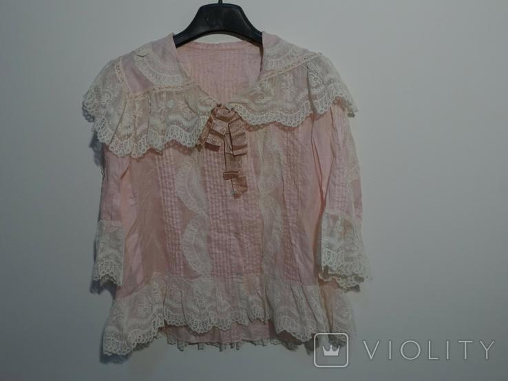 Рубашка женская конец 19 века батист Италия, фото №2