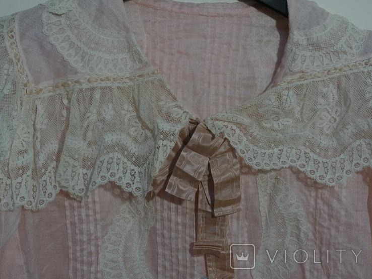 Рубашка женская конец 19 века батист Италия, фото №3