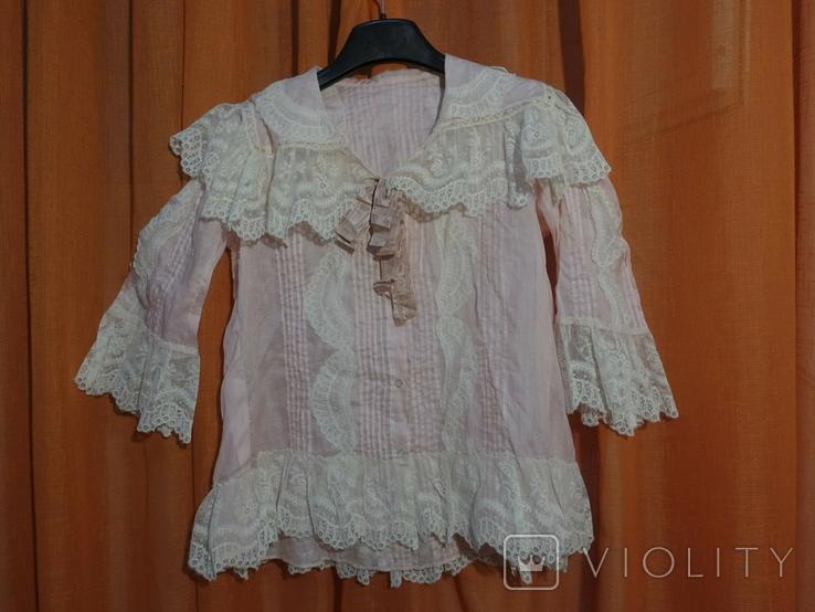 Рубашка женская конец 19 века батист Италия, фото №13