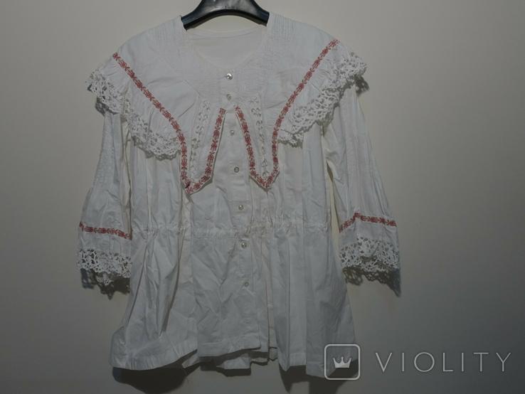 Рубашка женская конец 19 века  Италия с инициалами, фото №2