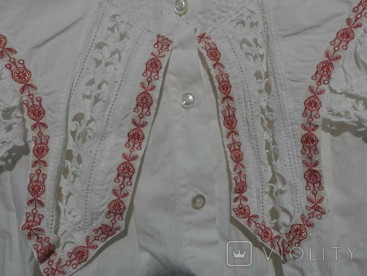 Рубашка женская конец 19 века  Италия с инициалами, фото №4