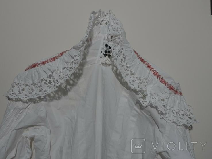 Рубашка женская конец 19 века  Италия с инициалами, фото №9