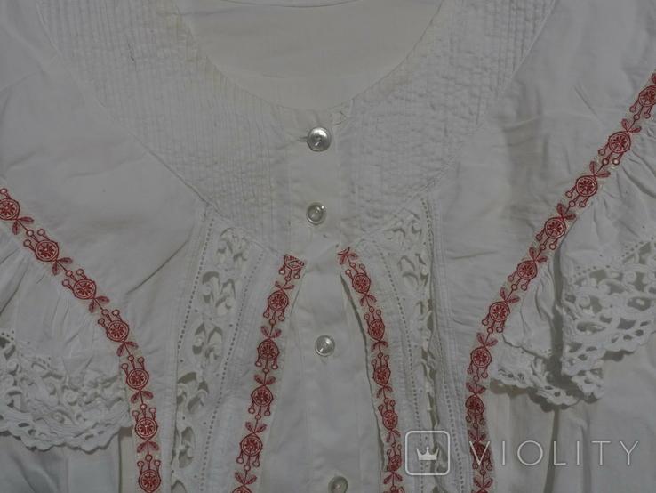 Рубашка женская конец 19 века  Италия с инициалами, фото №10