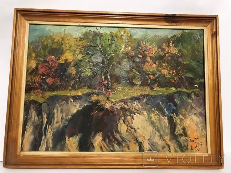 Осенний этюд , картон масло, подпись художника