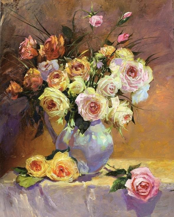 Пастозная живопись Розы