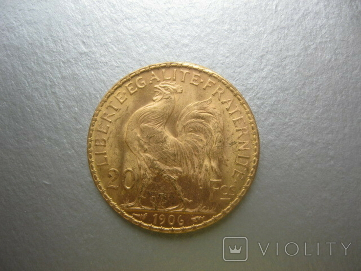 20 франков 1906 год Франция ( Петух)