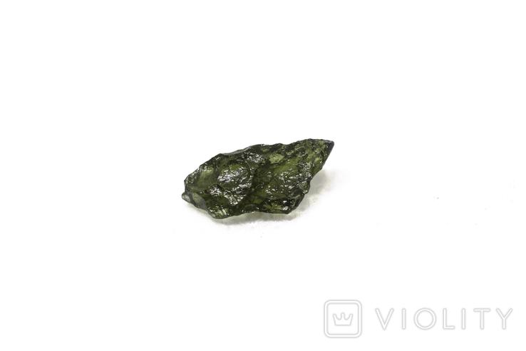 Імпактне тіло, тектит Moldavite, 0,34 грам із сертифікатом автентичності, фото №5