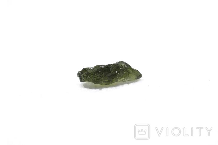 Імпактне тіло, тектит Moldavite, 0,34 грам із сертифікатом автентичності, фото №9