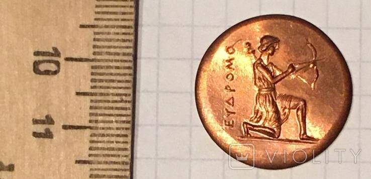 Херсонес. 330-310 г.д.н.э. Дихалк. Медь / дева, грифон, копия, фото №3