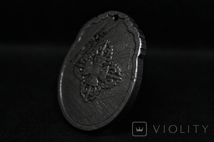 Двосторонній кулон із метеорита Aletai, 52,5 грам, із сертифікатом автентичності, фото №8