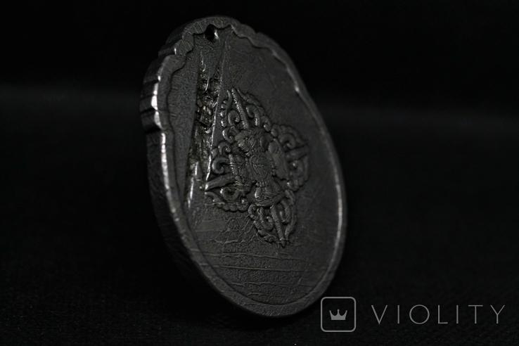 Двосторонній кулон із метеорита Aletai, 52,5 грам, із сертифікатом автентичності, фото №9