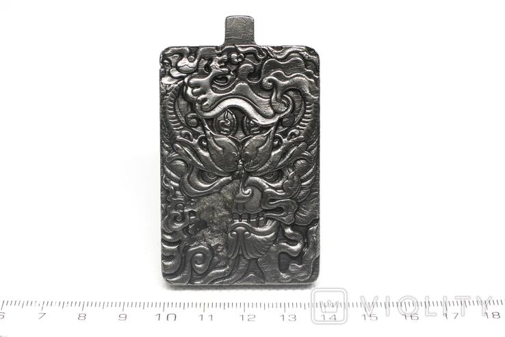 Кулон-амулет Дракон із метеорита Aletai, 95,2 грам, із сертифікатом автентичності, фото №4