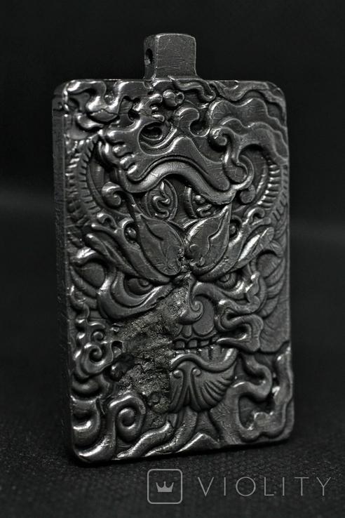 Кулон-амулет Дракон із метеорита Aletai, 95,2 грам, із сертифікатом автентичності, фото №6