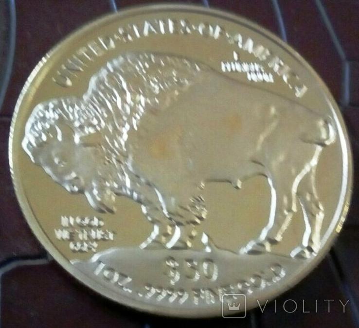 50 доларів США 2015 року. не  магнітний,копія   (позолота 999), фото №2