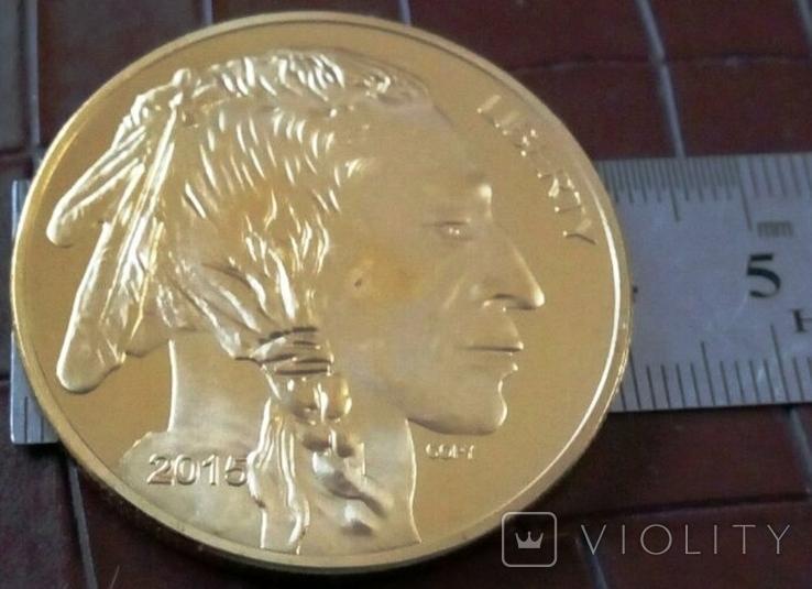 50 доларів США 2015 року. не  магнітний, копія   (позолота 999), фото №3