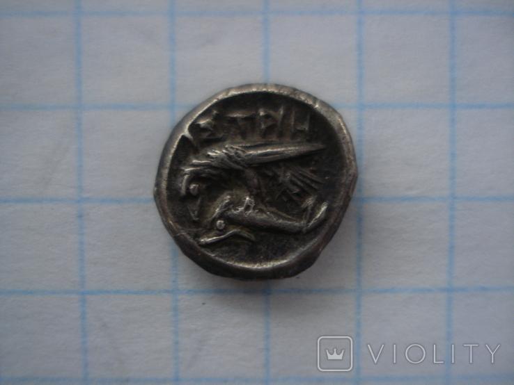 Истрия.Тригемиобол. Вес 1,32 грамма., фото №3