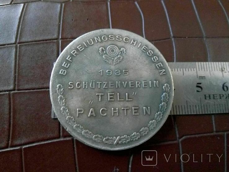 Медаль 1935.Німеччина. Копія - не магнітна, посрібнена, фото №3