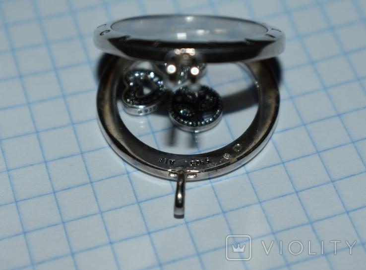 Кулон с подвижными вставками Pandora серебро 925 проба вес 13,2 грамм в коробке оригинал, фото №7