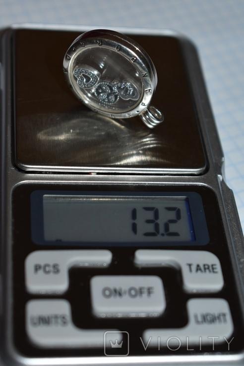Кулон с подвижными вставками Pandora серебро 925 проба вес 13,2 грамм в коробке оригинал, фото №11