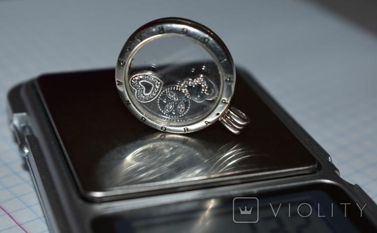 Кулон с подвижными вставками Pandora серебро 925 проба вес 13,2 грамм в коробке оригинал, фото №12