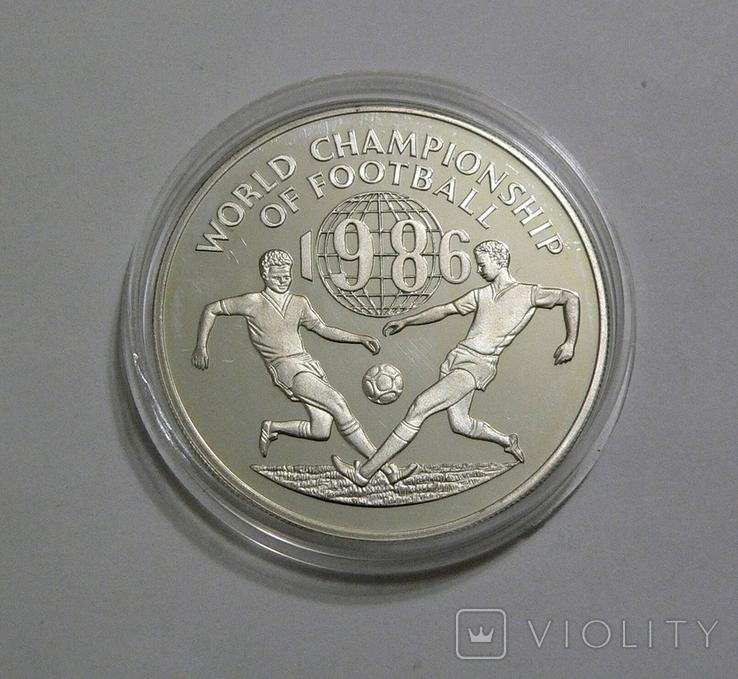 Ямайка, 25 долларов, 1986 - Чемпионат Мира по футболу 1986 - серебро, фото №2