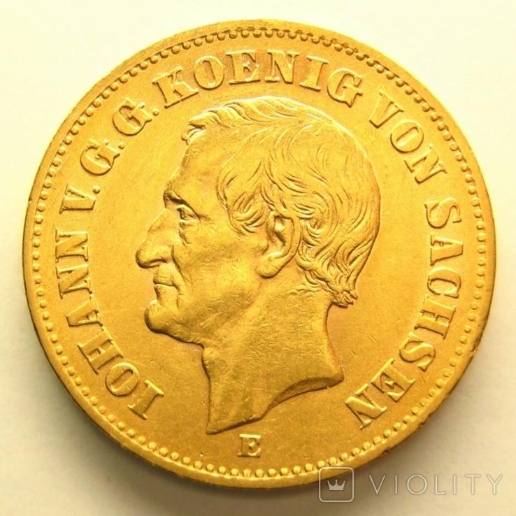 Саксония 20 марок 1873 г., фото №2