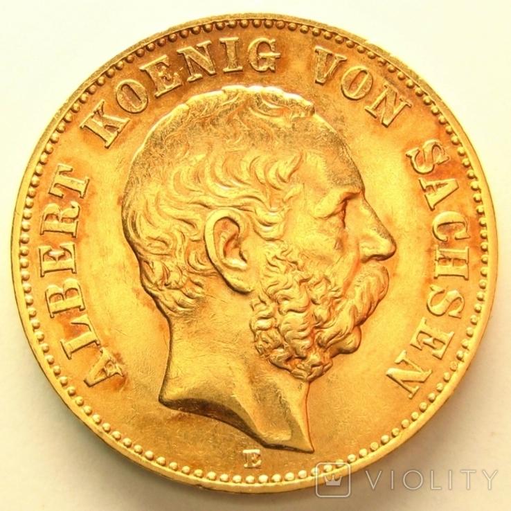 Саксония 20 марок 1895 г., фото №2
