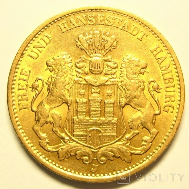 Гамбург 20 марок 1899 г., фото №3